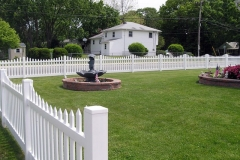 Cape Cod Concave Picket Vinyl fence