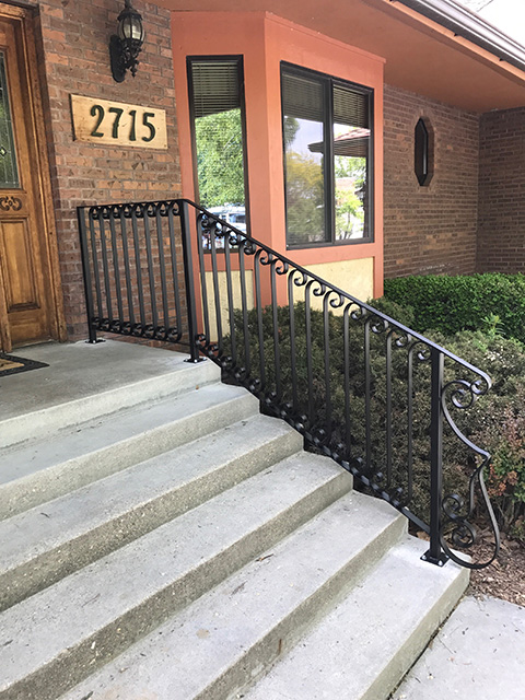 wrought iron rail 3