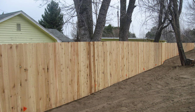 Before Staining The Fence
