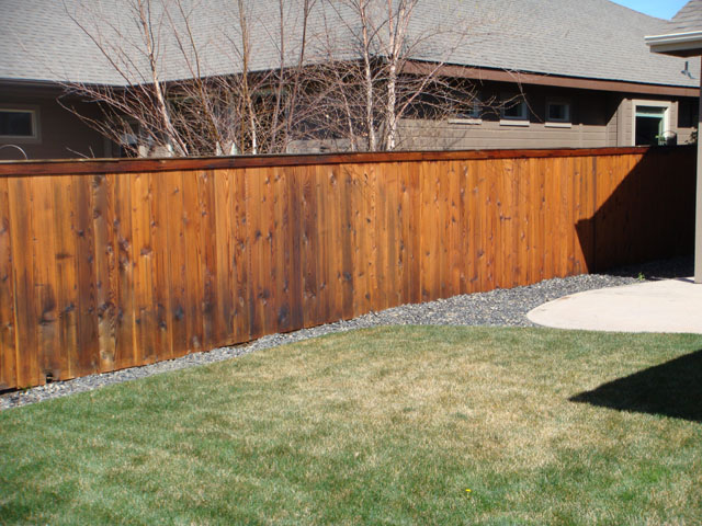 After Fence Stain
