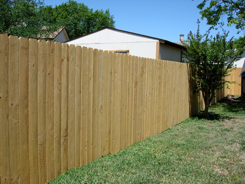 Dog Eared Cedar Fence 3