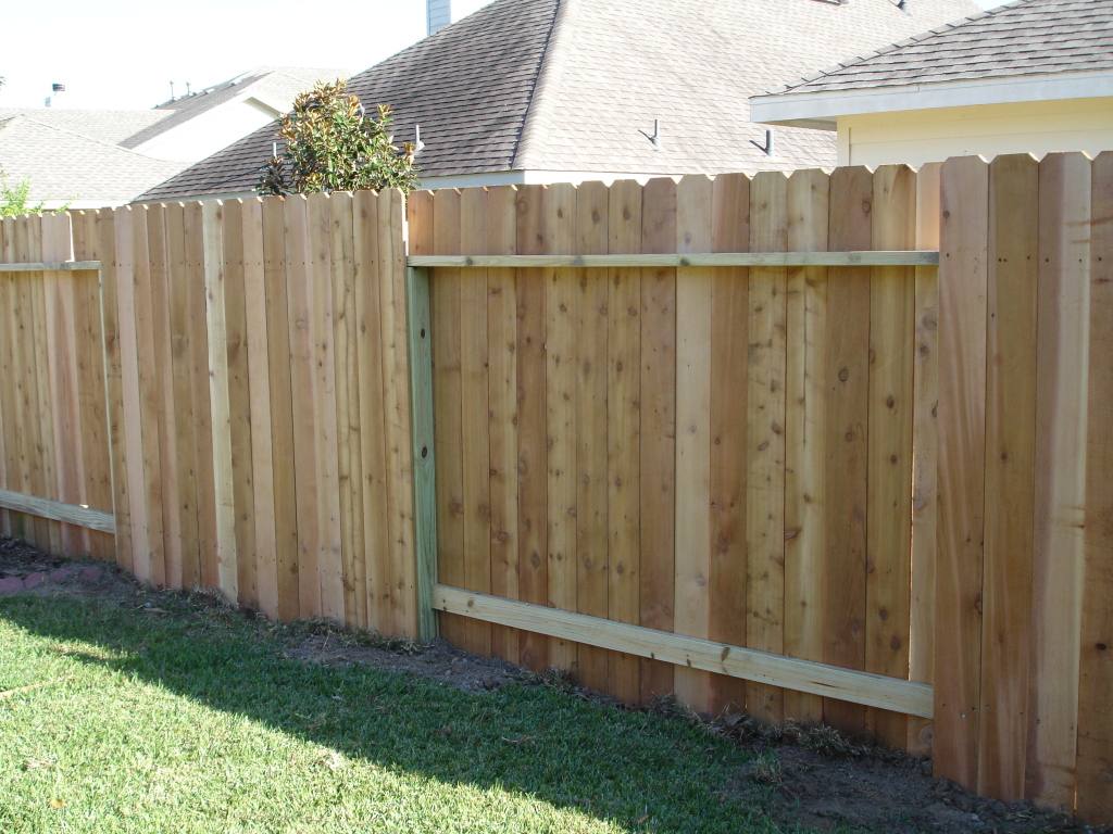 Dog Eared Cedar Fence