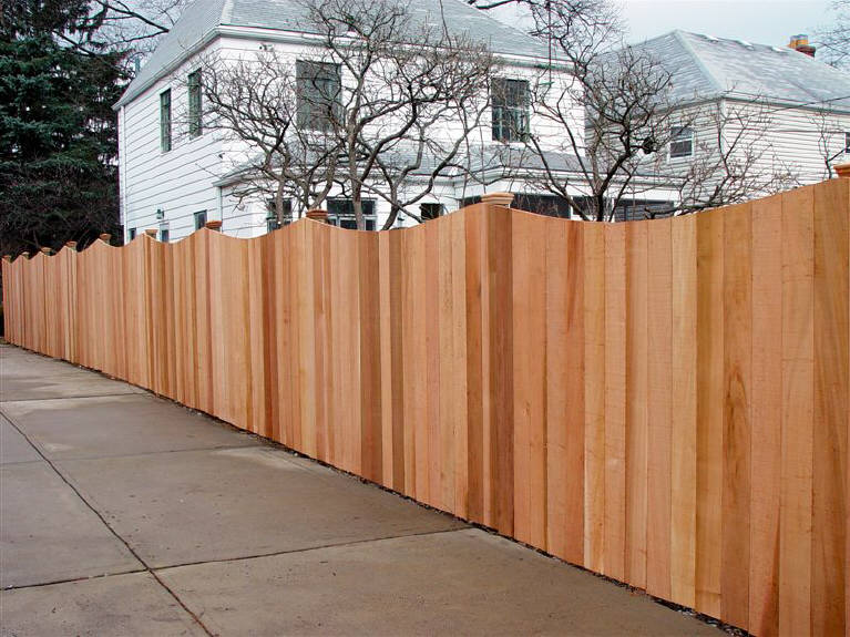 Dog Eared Cedar Scalloped Fence