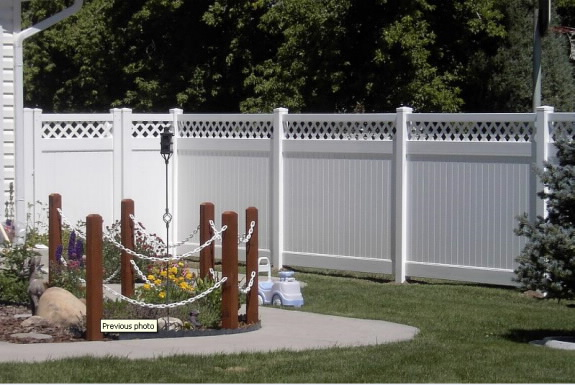 Lattice Vinyl Fence 3