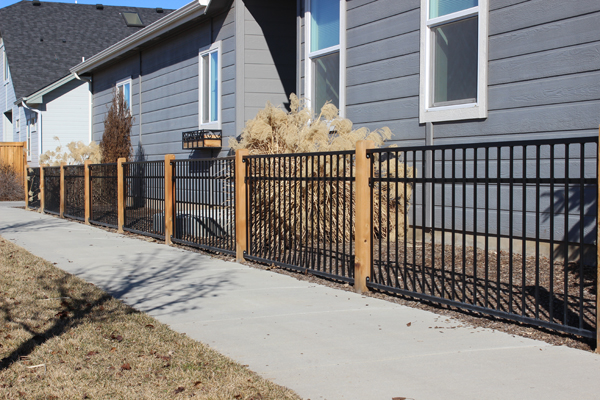 3-rail wrought iron fence
