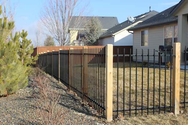 wrought iron fence - western