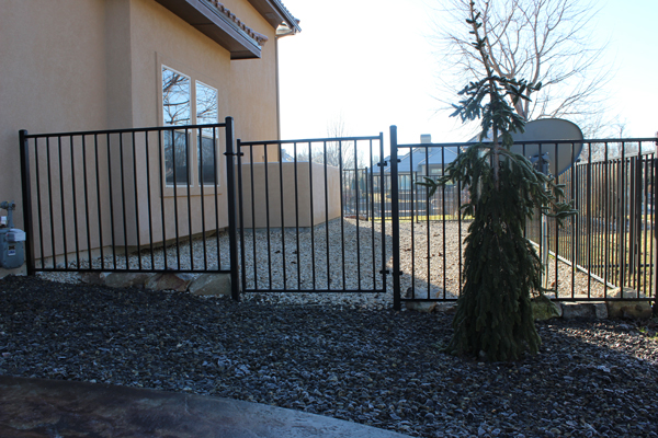 Wrought Iron Western 2 Rail 3 Meridian Fence