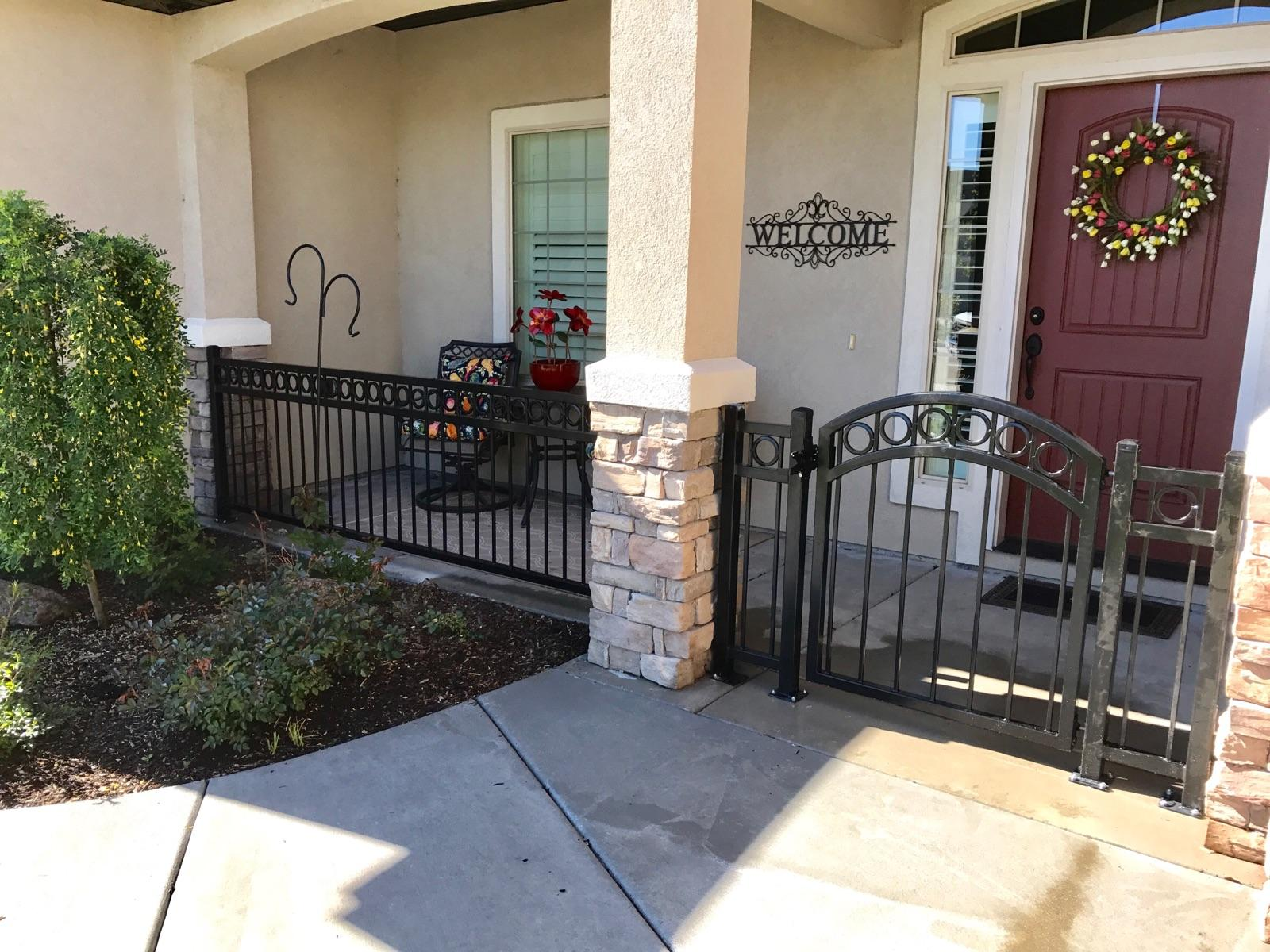 Recent Wrought Iron Fence Projects Meridian Fence